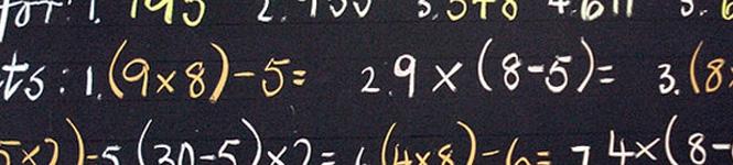 Blackboard-Numbers
